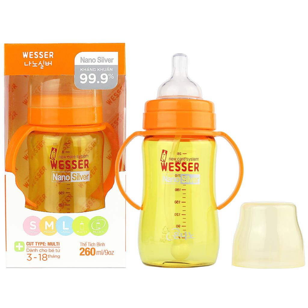 Wesser Feeding Bottle 260ml (Straw)