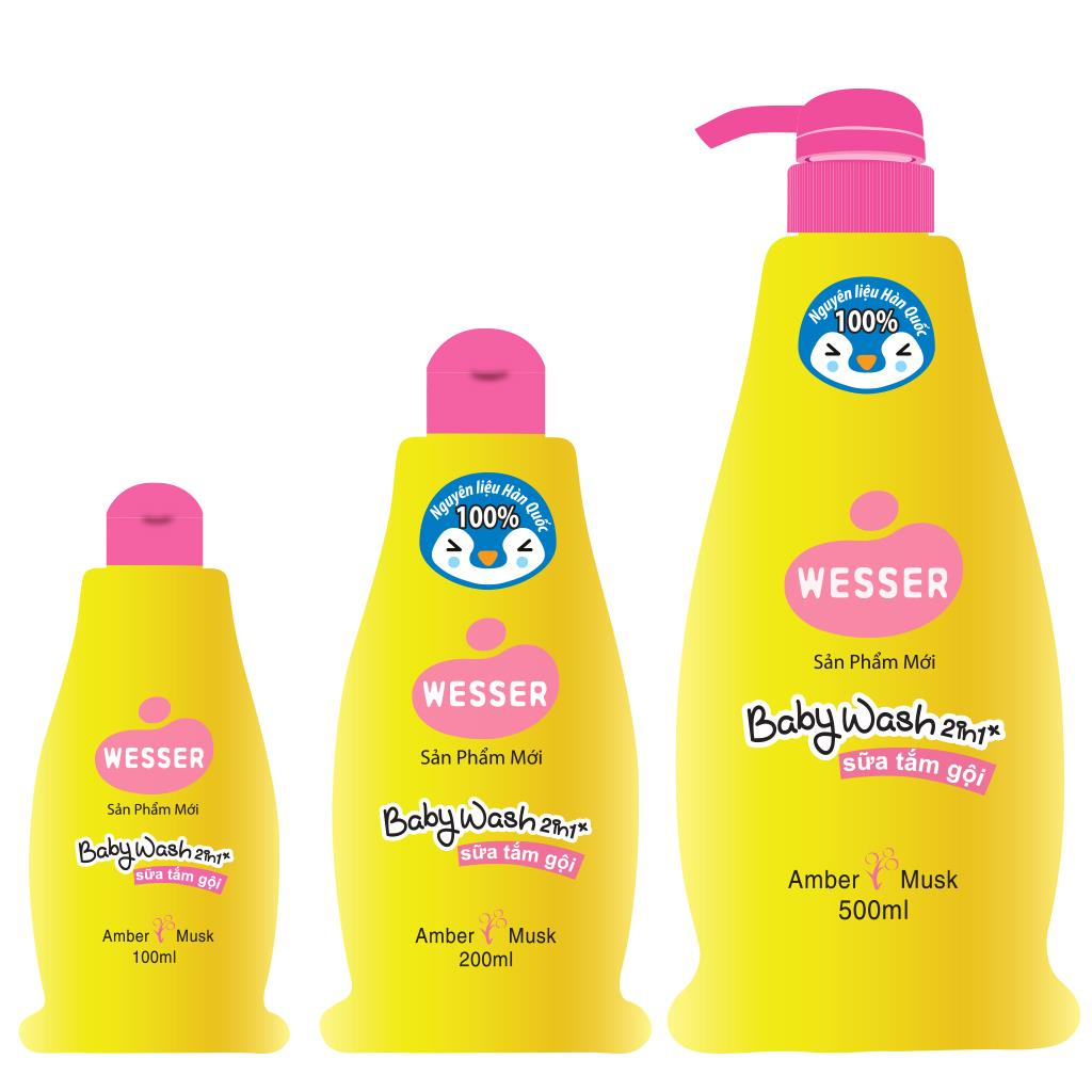 Wesser Baby Wash 2in1 (AMBER MUSK)